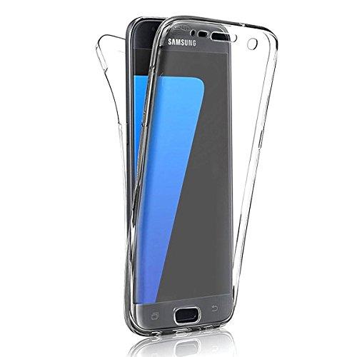 Samsung Galaxy S8 Hülle, Sunroyal Double Hülle Profer TPU [Clear] Transparent Full Body Beidseitiger 360°Schutz Schutzhülle Touchscreen TPU Silikon Dünne Case Cover Front Back Komplette Gehäuse Housing Handytasche Schale Bumper für Samsung Galaxy S8 (5,8