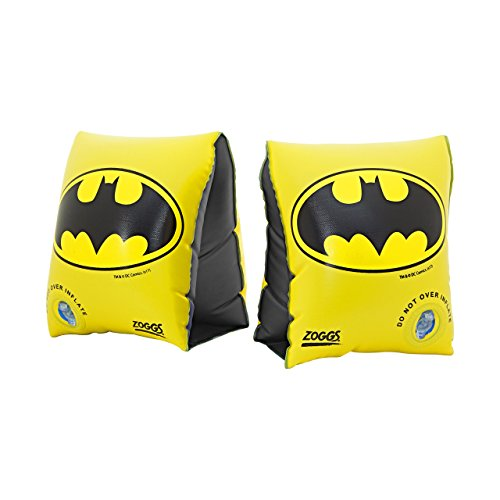Zoggs Kinder Batman-Arm Bands Schwimmflügel, Black, One Size