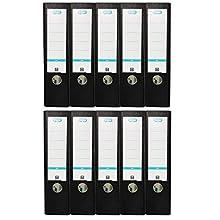 Elba Smart Pro 10456SW Folder A4 8 cm Spine Interchangeable Spine Label 10 Items Black