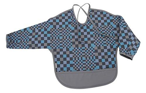 mikk-line Unisex Baby Halstuch Ärmel-Lätzchen, Kariert, Gr. One size, Blau (Hawaiin Blue 236)
