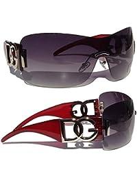 bca178f03a3c7 DG Eyewear Sunglasses by DG Studio Collection 2019- Full UV400 Protection - Women  Ladies Burgundy Designer Oversized Vintage Retro…