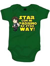 Body bebé Star Wars Star con mi padrino es Star Way Han Solo