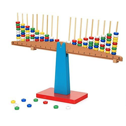 El grupo de equilibrio aritmético consiste en un equilibrio, un palo de madera y cuentas de colores. La relación entre el número de aprendizaje, la suma, la resta y el equilibrio.Función: Cultivar la percepción del peso de los niños, dominar la relac...