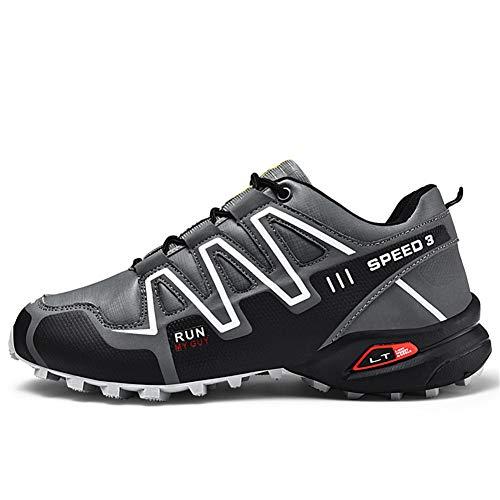 Scarpe da trekking ed escursionismo luminose da uomo, scarpe sportive comode di grandi dimensioni, scarpe da ginnastica traspiranti / scarponi da arrampicata leggeri / calzature 39-47,Grigio,46