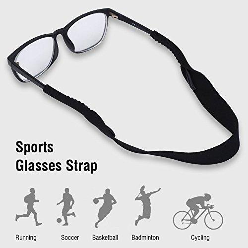Tbest Tbest Brillenband Sport Lesebrille Glasses Strap Neopren Einstellbarer Elastische Sportbrillenband Brillenband Schwimmfähig Brillenkordel Für Lesebrillen Für Kinder, Männer, Frauen - Schwarz