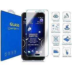 HTC U11 - 3D Incurvé Verre Trempé Transparent 3D Film Protection en Verre trempé écran Protecteur Vitre - Ultra Résistant Dureté 9H Glass Screen Protector pour HTC U11 / HTC U11 Dual SIM (Clear)