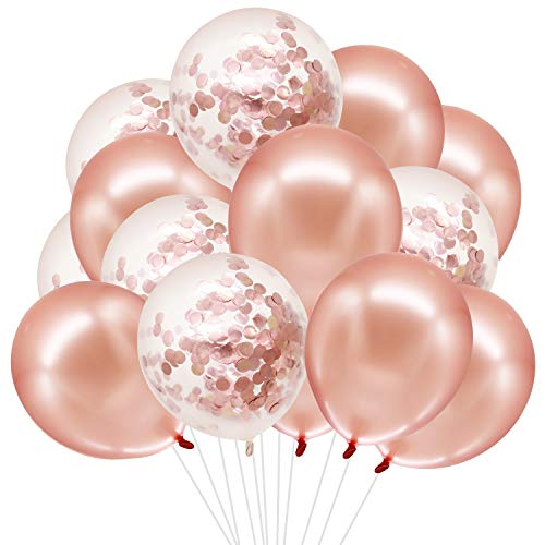 HusDow Rose Gold Balloons Set, 5...