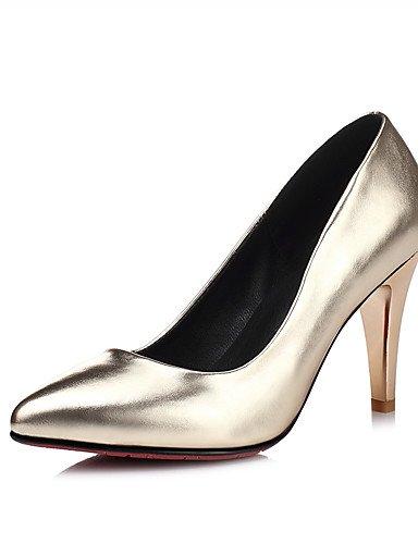 WSS 2016 Chaussures Femme-Mariage / Soirée & Evénement / Habillé-Noir / Rose / Argent / Or-Talon Aiguille-Talons / Bout Pointu-Talons-Matières golden-us5.5 / eu36 / uk3.5 / cn35