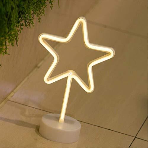 MTX Ltd Nachtlicht Neon mit Basis Nachtlicht Kreative Styling Ornamente Kleine Laternen Prinzessin Raumdekoration Kleine Tischlampe
