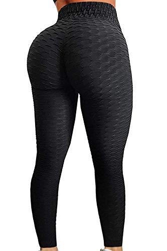 Pau1Hami1ton Damen Leggings, Sporthose Fitnesshose Training Laufhose Sport Tights Hohe Taille Yogahose GP-11(Black,L) -