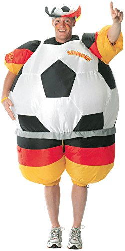 tüm: Selbstaufblasendes Fan-Kostüm Deutschland (Aufblasbarer Ganzkörperanzug) (Halloween Kostüme Lieferanten)