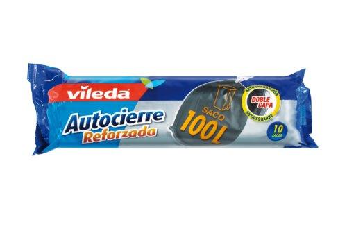 Vileda 120220 - sacchi con extra forte chiusura band, 100 l, 10 pcs