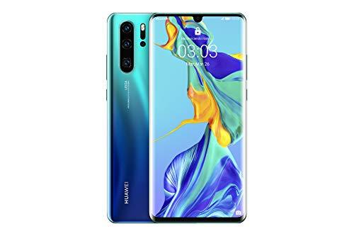 Huawei P30 Pro - Smartphone de 6.47' (Kirin 980 Octa-Core de 2.6GHz, RAM de 8 GB, Memoria interna de 128 GB, cámara de 40 MP, Android) Color Aurora [Versión española]