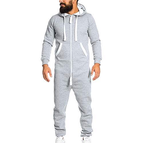 2018jyjm Weihnachten (EIN Satz) Männer Unisex Jumpsuit Einteiliges Kleidungsstück Non Footed Pyjama Playsuit Bluse Hoodie Herren Übergangsjacke Herrenjacke Jacke gefüttert mit Kapuze
