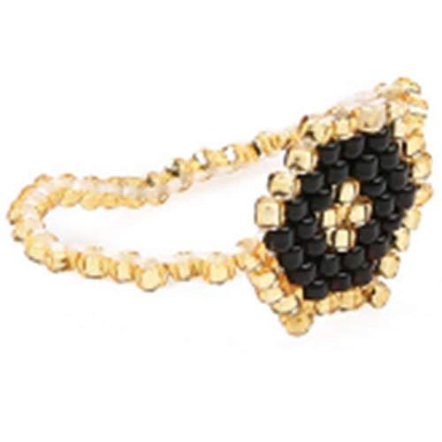 WGY Ring Mode Hochzeitsringe Für Frauen Rocailles Handgewebten Schmuck Urlaub Geschenk Hochzeit Ring Verlobungsgeschenk, C -