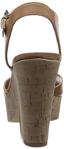Marc Fisher Calia 2 Cuir Sandales Light Natural