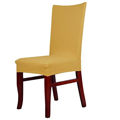 Housse de chaise stretch fourni avec pour Housses de chaise siège amovible lavable pour hôtel, restaurant, mariage, partie , Maison de Decor , fête, cuisine, salle à manger , Motif de Grille Housse de chaise fourni par Reaso (Jaune)