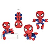 Play by Play Spiderman trepador 30cm Supersoft Muñeco Peluche Original Pelicula Comic Marvel Heroes