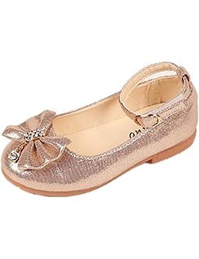 BYSTE Scarpe da Bambina Bowknot Scarpe da principessa Fondo morbido scarpette da ballo Scarpe singole Ragazze...