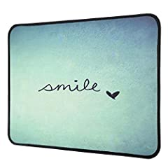 Idea Regalo - Gaming Mouse Pad, 300 × 250 mm Tappetino Mouse con design personalizzato speciale motivo divertente, bordi cuciti, tappetino in gomma antiscivolo Mousepad per laptop, Mac, computer e PC(Smile)
