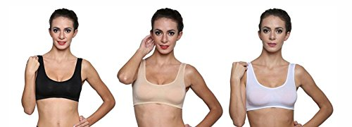 Lady Heart Air Sports Bra, Pack of 3 (Free Size, Size of 28 to 36)