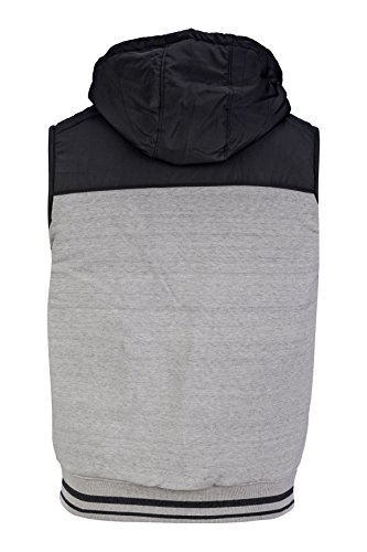 Kitaro Herren Pullover Kapuzensweatshirt Jogging Hellgrau