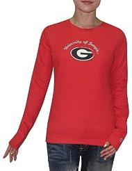 NCAA Georgia Bulldogs Femme Slim Fit Long Sleeve Shirt (Vintage Look)