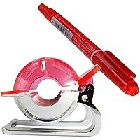 WINOMO Golf Ball Liner Marker Template Dibujo Mark Alignment Putting Tool con Maker Pen (rojo)