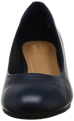 Fiore Donna Da Wedge Blu Scarpe pelle Blu Clarks Vendono Twfqg57
