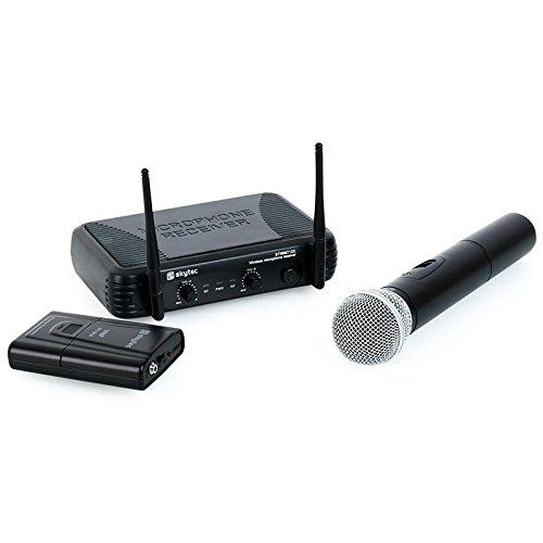 Skytec 179180-STWM712C Wireless Mikrofon Doppel-Hand und Kopfband