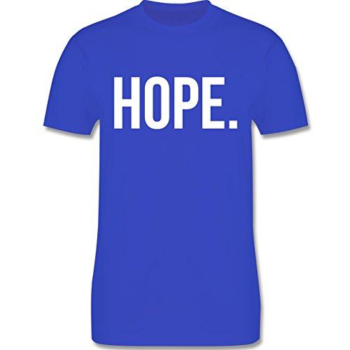 Statement Glaube Religion - Hope Hoffnung weiss - Herren T-Shirt Royalblau