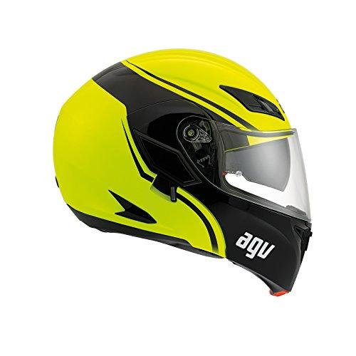 AGV - Casco de moto Compact St E2205 Multi PLK, Course amarillo/negro, M