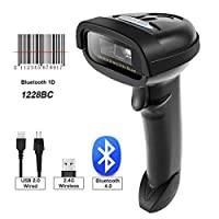 NETUM Bluetooth CCD Barcode Scanner Wireless Barcode Reader Handheld USB 1D Bar Code Imager for Mobile Payment Computer Screen Scan for POS Android iOS iMac Ipad System NT-2028