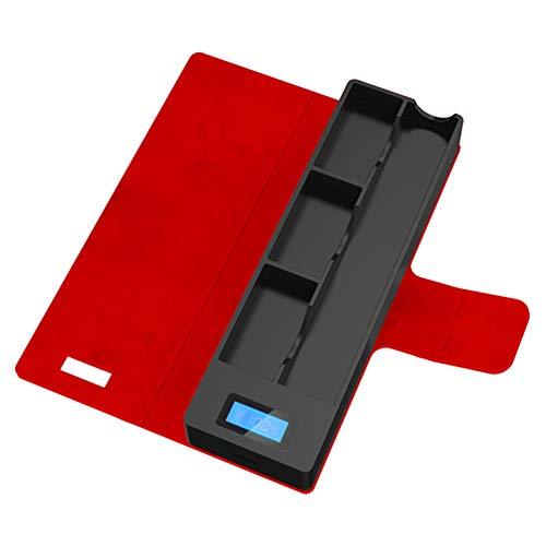 Preisvergleich Produktbild Yeleo Trosetry Tragbarer Ladekoffer,  kompatibel mit Juul Geräten mit LCD Ladeanzeige(Rot)