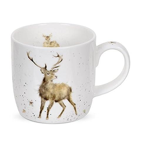 Portmeirion Royal Worcester Wrendale Designs Wild at Heart Deer Lot de 6Mugs en porcelaine anglaise