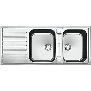 Franke Argos G AGX 621 G Edelstahl Doppelbecken Küchenspüle Spültisch Auflage
