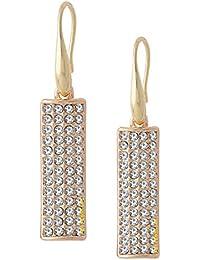Om Jewells Fashion Jewellery Crystals Slab Dangler Earrings For Girls And Women ER1000050