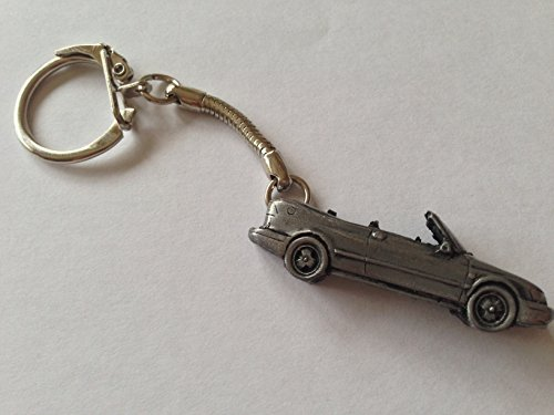 saab-93-convertible-3d-snake-keyring-great-pewter-effect-keyring-ref228