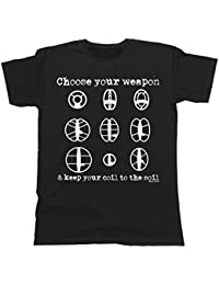 Buzz Shirts Hombres Y Damas Choose Your Weapon Metal Detector T-Shirt Mens Ladies Coil