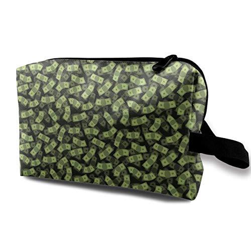 Raining Dollar Bills Travel Storage Bag Cosmetic Bag Beauty Case Buggy Bag