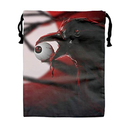 Halloween Horror Nights Drawstring Shoe Bags for Travel,Multi-Color Storage Organizer Pouch for Men Women