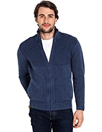 WoolOvers Cardigan épais en maille torsadée à fermeture éclair - Homme - 100% coton