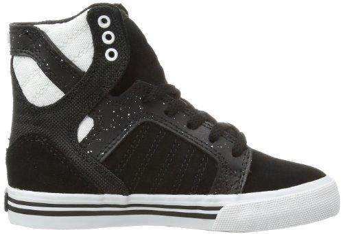 Supra KIDS SKYTOP S13019K, Sneaker Unisex bambini Nero (Schwarz (BLACK / WHITE-WHITE BKW))