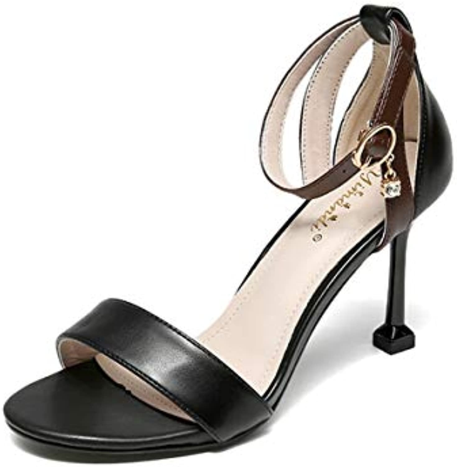 KOKQSX-High heels wild thin low high 7CM 7CM 7CM 37 nero | Scelta Internazionale