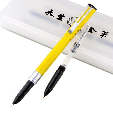 Stylo-plume et stylo de pratique de cartouche Double Head Students Use Calligraphy Gift Set Iridium Lettering, Yellow, 0.38Mm 0.5Mm