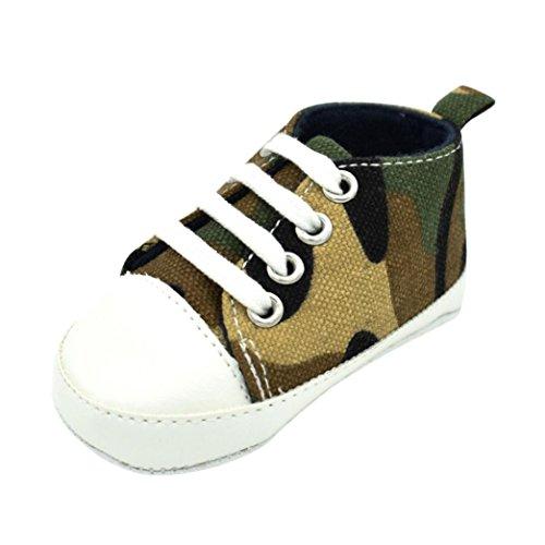 Babyschuhe Longra Baby Mädchen Jungen Lauflernschuhe Camouflage Sneaker Anti-Rutsch Soft Sole Kleinkind Segeltuch-Schuhe Krabbelschuhe (0~18 Monate) (11CM 0-3Monate, Camouflage)