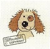 Mouseloft Mini Cross Stitch Kit - Cuddly Dog, Stitchlets Collection