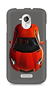 Amez designer printed 3d premium high quality back case cover for Micromax Canvas HD A116 (Pretty red Lamborghini)