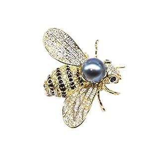 Aisoway Honig-Bienen-Broschen Kristall Insect Animal Themed Perle Pin für Unisex Dekorieren