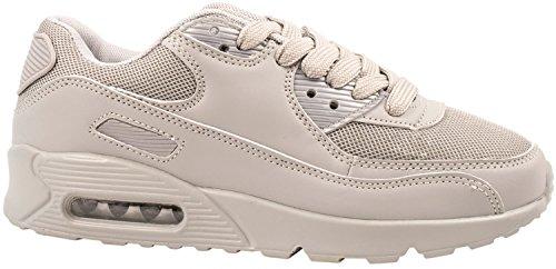 Elara Trendige Unisex Sneaker | Damen Herren Kinder Sport Laufschuhe | Turnschuhe Grau 2